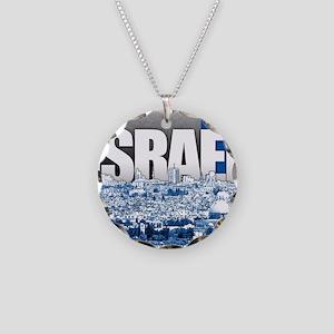 Jerusalem, Israel Necklace Circle Charm