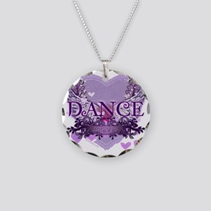 dance forever purple heart c Necklace Circle Charm