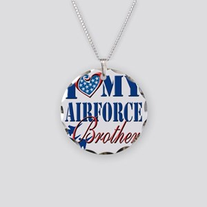 I Love My Airforce Brother Necklace Circle Charm