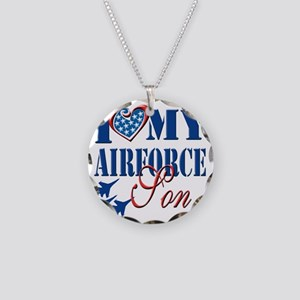 I Love My Airforce Son Necklace Circle Charm