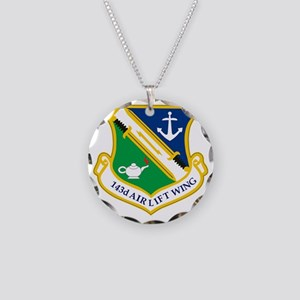 143rd Airlift Wing Necklace Circle Charm