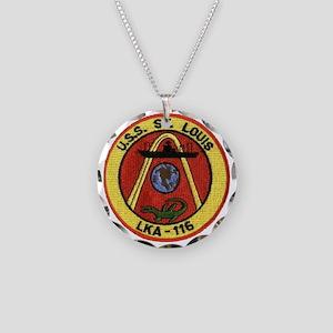 uss st louis patch transpare Necklace Circle Charm
