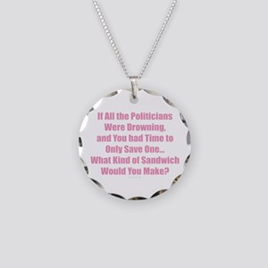 Politicians Sandwich Necklace Circle Charm