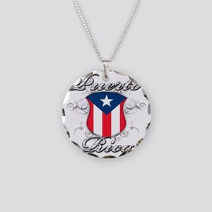 puerto rico b Necklace Circle Charm