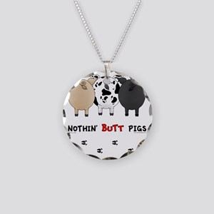 pigbuttsnew Necklace Circle Charm