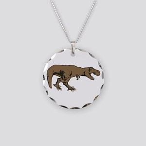 Tyrannosaurus rex 3 Necklace Circle Charm