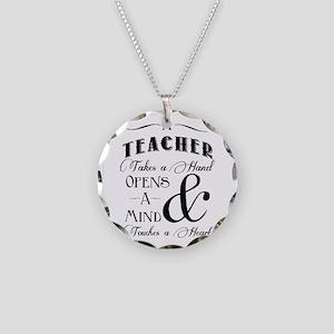 Teachers open minds Necklace Circle Charm