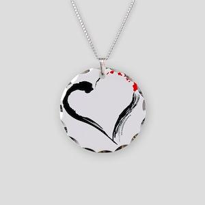 I Love Hawaii Necklace Circle Charm