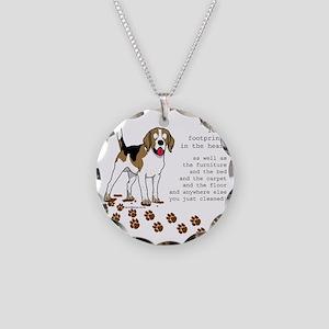footprints-beagle copy Necklace Circle Charm