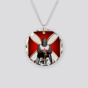 TemplarandCross Necklace Circle Charm
