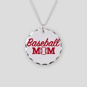 Baseball mom Necklace Circle Charm