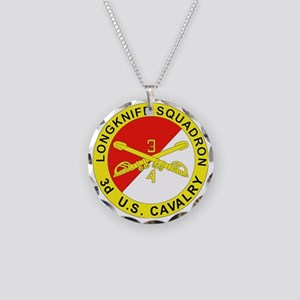 4-3D ARMORED CAVALRY REGIMEN Necklace Circle Charm
