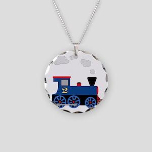 train age 2 blue black Necklace Circle Charm