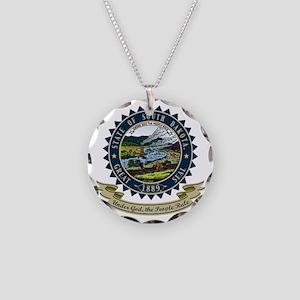 South Dakota Seal Necklace Circle Charm
