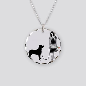 Dogo-Argentino11 Necklace Circle Charm