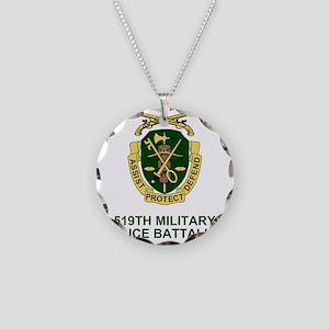 Army-519th-MP-Bn-Shirt-2 Necklace Circle Charm