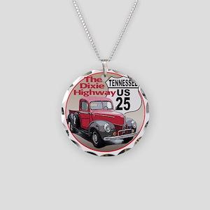 25-TN-40FordTk-C10trans Necklace Circle Charm