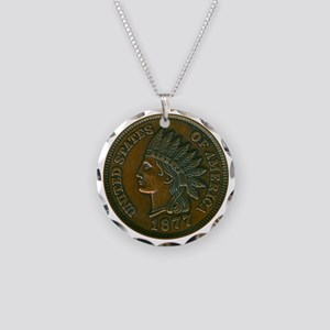 pennyIndian-C8trans Necklace Circle Charm