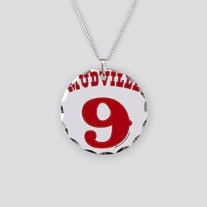 Mudville9 (red) Necklace Circle Charm