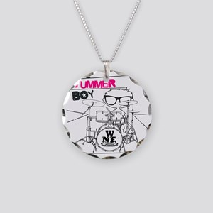 THE DRUMMER BOY T-SHIRT Necklace Circle Charm