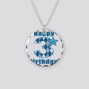 Happy 3rd Birthday! Necklace Circle Charm