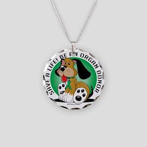 Organ-Donor-Dog Necklace Circle Charm