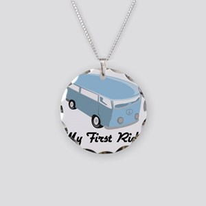 My First Ride Necklace Circle Charm