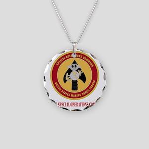 MarineSpecialOperationsComma Necklace Circle Charm