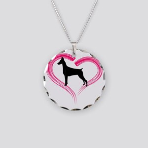 DobermanLove Necklace Circle Charm