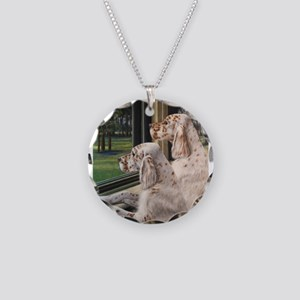 English Setter Puppies Necklace