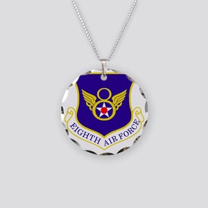 USAF-8th-AF-Shield-Bonnie Necklace Circle Charm