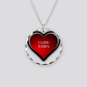 I Love Tampa Necklace Circle Charm