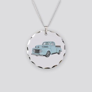 1950 Ford F1 Necklace Circle Charm