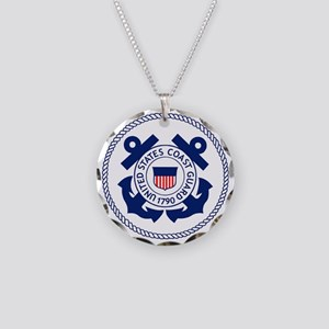 USCG-Logo-3-Enlisted-X Necklace Circle Charm