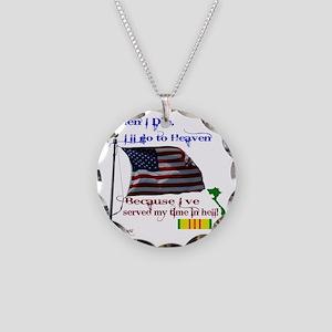 When I Die... Vietnam Necklace Circle Charm