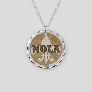 NOLA Necklace Circle Charm