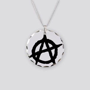 Anarchy Necklace Circle Charm