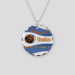 Seafood Gumbo Necklace Circle Charm