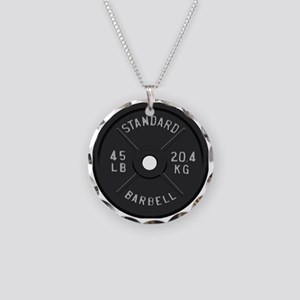 clock barbell45lb2 Necklace Circle Charm