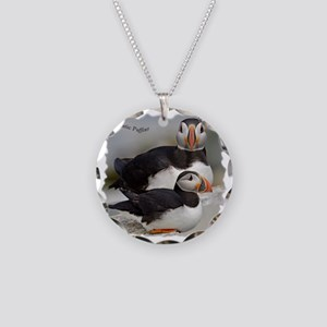 Puffin Tee Necklace Circle Charm