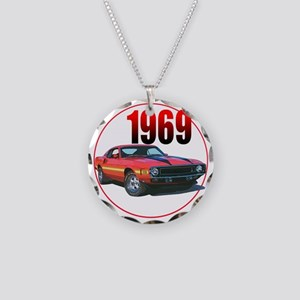 69GT500-C8trans Necklace Circle Charm