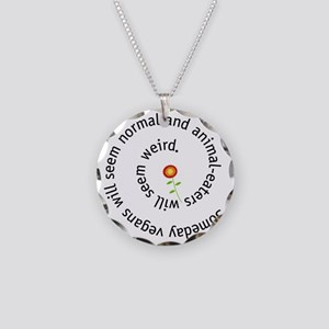 normal-4wht-flower Necklace Circle Charm