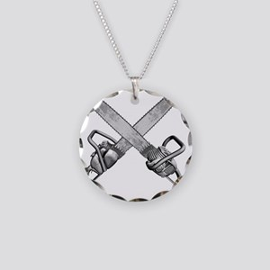 chainsaws Necklace Circle Charm