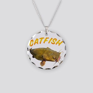 Catfish side Necklace Circle Charm