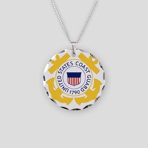 USCG-Emblem Necklace Circle Charm