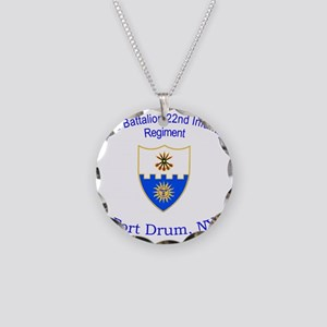 2nd Bn 22nd  inf Necklace Circle Charm