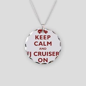 keep-calm-fj Necklace Circle Charm