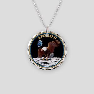 Apollo 11 Insignia Necklace Circle Charm