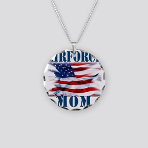 Airforce Mom Necklace Circle Charm