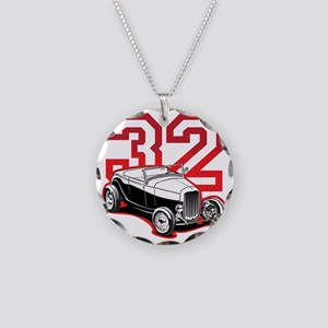 red 32 ford Necklace Circle Charm